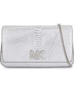 Michael Kors Ladies Embossed Luxury Snake-embossed Leather Clutch