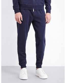 Tapered Cotton-blend Jogging Bottoms