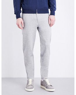 Tapered Cotton Jogging Bottoms
