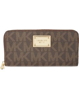 Jet Set Monogram Grainy Wallet