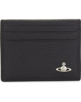 Milano Small Horizontal Fold Leather Card Holder