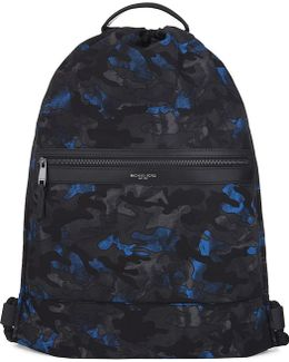 Kent Camouflage Print Drawstring Backpack
