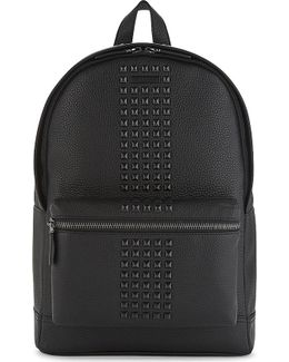 Bryant Studded Grained Leather Backpack