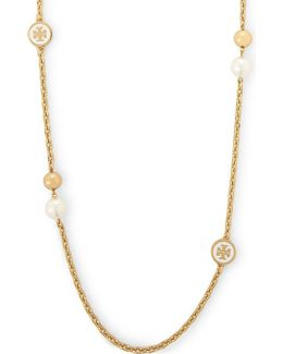 Gold Plated Rosary Necklace