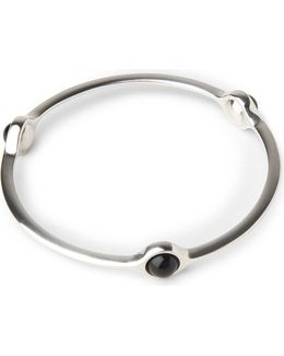 Sphere Bangle With Black Agate