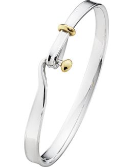 Torun 18ct Yellow-gold And Sterling Silver Bangle