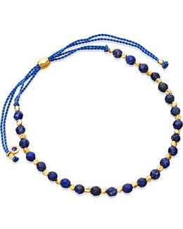 Lapis And 18ct Yellow Gold-plated Skinny Biography Bracelet