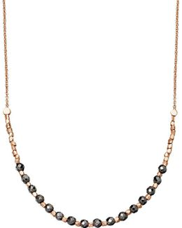 Hematite Detail 18ct Rose Gold-plated Necklace