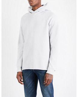 Unhemmed Cotton-blend Hoody