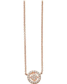 Mini Icon Aura 14ct Rose-gold And Diamond Pendant Necklace