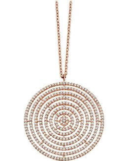 Large Icon Aura 14ct Rose-gold And Diamond Pendant Necklace