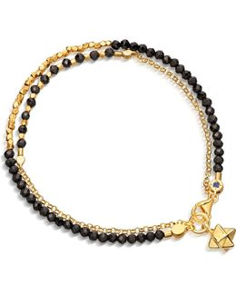 Biography Fire Element Double Row Spinel And 18ct Gold-plated Bracelet