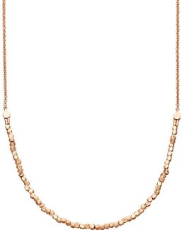 Biography Nugget Detail 18ct Rose Gold Necklace