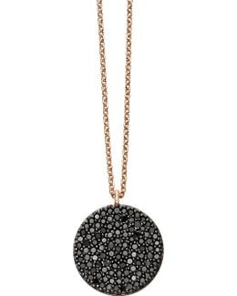 Icon 14ct Rose-gold And Black Diamond Pendant