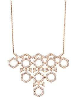 Honeycomb Diamond And Rose-gold Pendant
