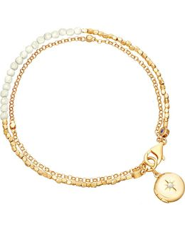 Biography 18ct Gold-plated Moonstone Bracelet