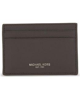 Bryant Pebbled Leather Card Holder