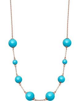 Peggy Rose-gold Vermeil & Turquoise Necklace