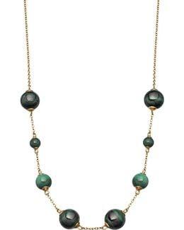 Peggy Yellow-gold Vermeil & Malachite Necklace