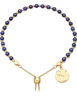 Lapis Earth 18ct Gold Plated Sterling Silver Kula Bracelet