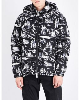 Ski-print Shell Down Jacket