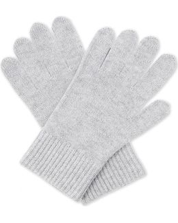 Ribbed Wool-cashmere Gloves