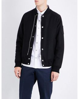 Brand-patch Wool Bomber Jacket
