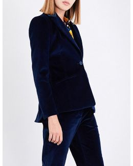 Acacia Single-breasted Velvet Jacket