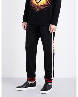 Logo-tape Stretch-jersey Jogging Bottoms
