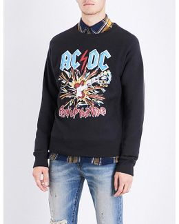 Ac/dc Printed Cotton-jersey Sweatshirt