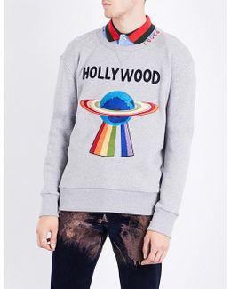Hollywood Ufo Cotton-jersey Sweatshirt