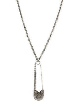 Oversized Safety Pin Necklace