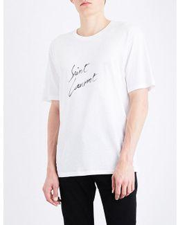 Script Cotton-jersey T-shirt