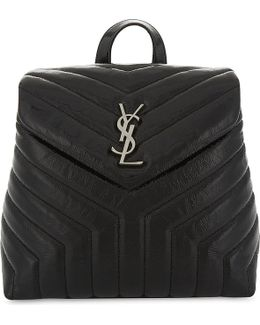 Loulou Small Leather Backpack