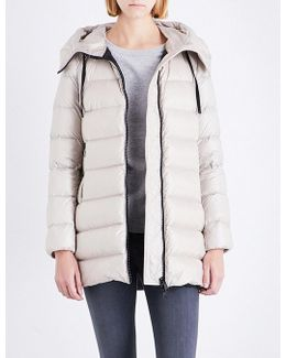 Goose Down And Feather-filled Padded Shell Coat