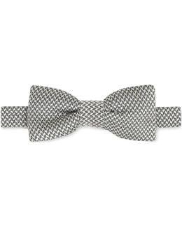 Mens Black Knot Luxury Solid Silk Bow Tie