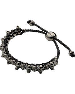 Skull Sterling Silver Friendship Bracelet