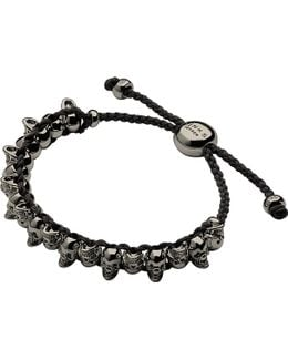 Skull Sterling Silver Friendship Bracelet