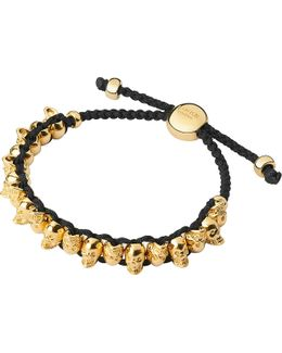 Yellow Gold Skull Friendship Bracelet