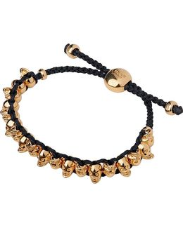 Rose Gold (black/dark Salmon) Skull Friendship Bracelet