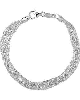 Silk 10 Row Sterling Silver Multi-chain Bracelet