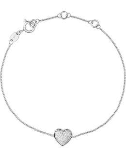 Diamond Essentials Sterling Silver Pave Bracelet