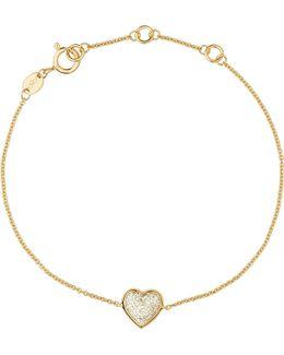Diamond Essentials 18ct Yellow-gold Pave Bracelet