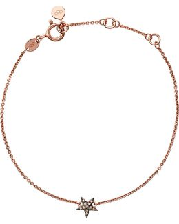 Diamond Essentials 18ct Rose Gold-vermeil And Diamond Bracelet