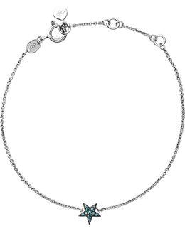 Diamond Essentials Sterling Silver And Blue Diamond Bracelet