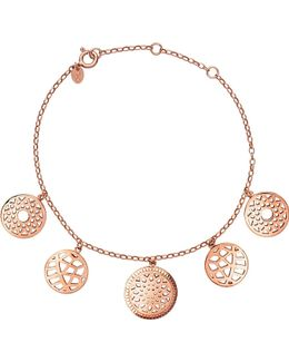 18ct Rose-gold Vermeil Coin Bracelet
