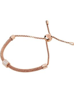Starlight 18ct Rose Gold-plated And Sapphire Bead Bracelet