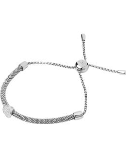 Starlight Sterling Silver And Sapphire Round Bracelet