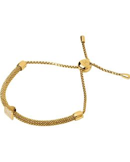 Starlight 18ct Yellow-gold Vermeil And Sapphire Square Bracelet
