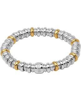 Sweetheart Sterling Silver And 18ct Yellow-gold Bracelet